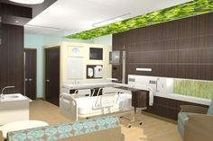 Rendering from Mitchell Associates submission, a finalist in the Patient Empowered Room Design Competition
