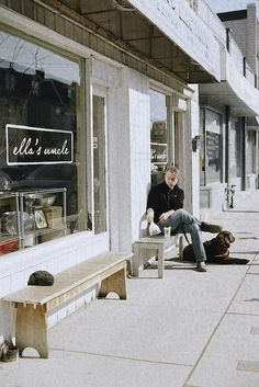 Outside benches are perfect either for pet owners or smokers Ella's Uncle | Toronto
