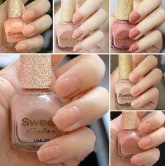 de l'expédition de colis à envoyer authentique doux ongles de couleur gelée rose