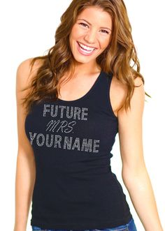 Future Mrs. Personalized Rhinestone Tank Top