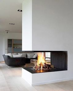 Discover the joy of a good old-fashioned fire with the top 70 best modern fireplace design ideas. Explore luxury built-in features for your home interior. Home Fireplace, Fireplace Design, Fireplace Modern, Fireplace Ideas, Small Fireplace, 3 Sided Fireplace, Craftsman Fireplace, Concrete Fireplace, Farmhouse Fireplace
