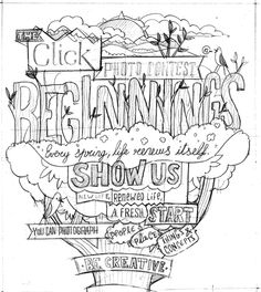 Beginnings for Click Magazine by Bomboland, via Behance