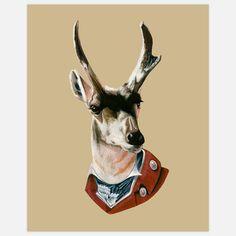 Buck Print 11x14 by Berkley Illustration. #Antler #Antlers
