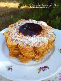 Barbi konyhája: Gofri - zabliszttel, cukor- és tejmentes Recepies For Kids, Pancakes, Cukor, Food And Drink, Gluten Free, Baking, Breakfast, Cooking, Glutenfree