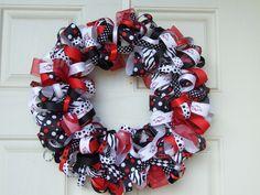 Razorback Ribbon Wreath. $48.00, via Etsy.