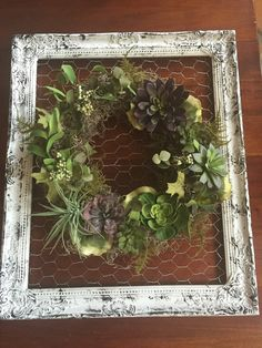 Faux Succulent Grapevine Wreath by DoorCandyandMore on Etsy - FIND these succulents and more at https://www.etsy.com/shop/simplyserra to DIY