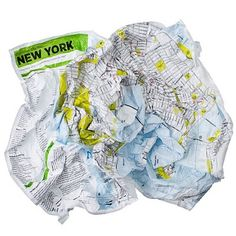 Crumpled City Maps - soft, waterproof and meant to be abused