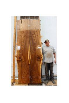 o Item Number: 4617m1 o Species: English Elm o Length: 89 o Combined Widths: TOP 37 – MIDDLE 39 - BOTTOM 34 o Sanded Thickness: 1 - 3/4 o Combined Weight: 188 lbs • Vacuum Kiln Dried to 6%-8% moisture content • Sanded on both faces • This two piece English Elm makes a nice bookmatch set - they have a warm brown heartwood, contrast sapwood, and scattered areas of figure. These boards are a great option for matching the straight edges or invert to create a large river table! They can be ...