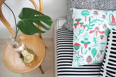 Bedroom / hunajaista blog - kauniste botanica cushion Tom Dixon, Cushions, Pillows, Marimekko, Scandinavian Design, Print Patterns, Sweet Home, Relax, Bedroom