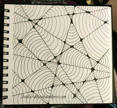 """""""Web of Lies"""" Doodle Art progress shots by Heidi Denney 