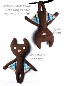 Maileg bats with magnetic feet / Special price for Halloween http://www.knuffelsalacarte.nl/vleermuis-knuffel-p-16767.html
