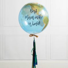 Personalised Mother's Day Globe Bubble Balloon by Bubblegum Balloons, the perfect gift for Explore more unique gifts in our curated marketplace. Yellow Balloons, Large Balloons, Printed Balloons, Gold Balloons, Wedding Balloons, Helium Balloons, Birthday Balloons, Balloon Display, Balloon Gift