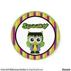 Cute Owl Halloween Sticker