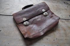 1940s leather briefcase
