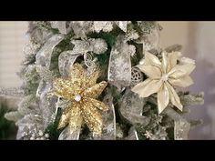 DIY Ribbon Flower|Poinsettias |Dollar Tree - YouTube