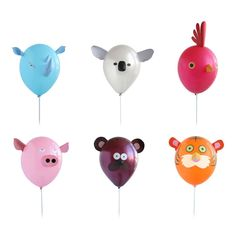 Air Heads - Animal Party Balloons - The Green Head