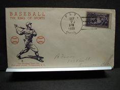 #855 BASEBALL Postal History Cover 1939 Cachet FLY, OHIO