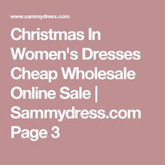 Christmas In Women's Dresses Cheap Wholesale Online Sale | Sammydress.com Page 3