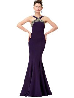 24930aff5 BohoProm prom dresses Mermaid Halter Floor-Length Satin Purple LongProm  Dresses HX0078 Vestidos De Baile