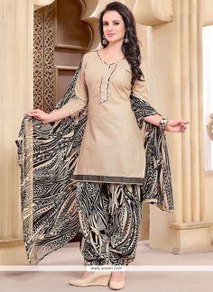 Jazzy Beige Punjabi Suit Model: YOS9338