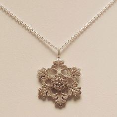 """Glisten"" Snowflake Pendant with Diamonds #AmericanCharm #snowflake #necklace"