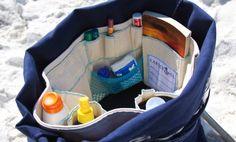 Beach bag organizer