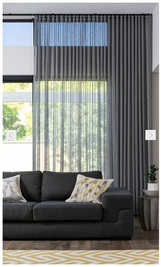 4 Marvelous Unique Ideas: Bamboo Blinds Living Room blinds for windows with curtains.Blinds For Windows Sliders dark blinds simple.Livingroom Blinds And Curtains. Home Curtains, Modern Curtains, Modern Blinds, Sheer Curtains Bedroom, Hanging Curtains, Blinds Curtains, Sheer Blinds, Fabric Blinds, Farmhouse Curtains