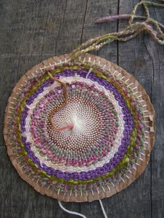 DIY:  make a hat with all your yarn scraps and a homemade cardboard circle loom!