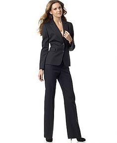 Tahari by ASL Pinstripe Pant Suit - Pant Suits Suits - Women's - Macy's