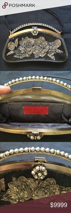 Vintage Valentino Evening Bag Stunning vintage Valentino Clutch. Such a rare find. Immaculate condition. There is just one little discoloration inside of the bag. Does not take away from this beauty. Might part with for the right offer:) Sharing for now. Valentino Bags