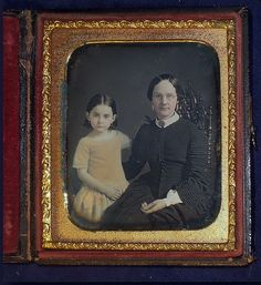 Yellow Dressed Darling , also rare photo showing eyeglasses of 19th century
