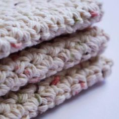 Cotton Washcloths and Dishcloths Free Crochet Pattern