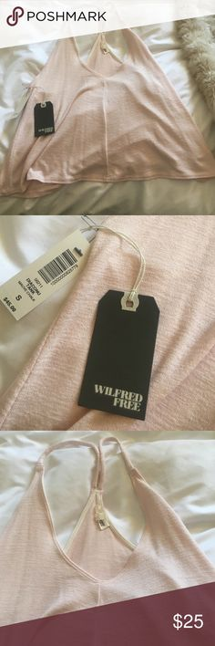 Brand new light pink tank Adorable and soft flowy light pink Aritzia tank Aritzia Tops Tank Tops