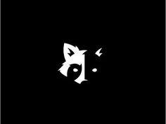 Raccoon Negative Space Forest Logo Design