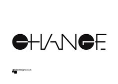 What's changing in your world? Typography experiment using shape.
