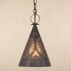 Sturbridge Witch's Hat Light in Country Tin Kitchen Island Pendant Lighting Hanging Chandelier, Ceiling Hanging, Hanging Pendants, Ceiling Lights, Chandeliers, Restoration Hardware Bedroom, Country Kitchen Lighting, Traditional Pendant Lighting, Direct Lighting