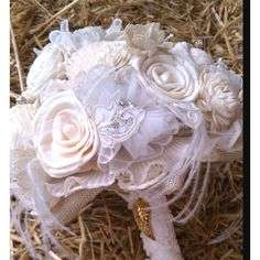 antique lace bridal bouquet | My wedding bouquet. Made from vintage lace, ... | Balsa Wedding Bouq ...