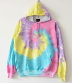 Harajuku fashion tie dyed gradient rainbow hoodie sold by Harajuku fashion. Shop more products from Harajuku fashion on Storenvy, the home of independent small businesses all over the world. Style Grunge, Soft Grunge, Harajuku, Diy Sweatshirt, Tie Day, Diy Tie Dye Shirts, Diy Shirt, Mode Chanel, Tie Dye Crafts