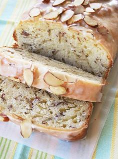 Lemon Almond Bread with Lemon-Sugar Drizzle. **Lemon/Blueberry/Poppyseed bread before with Lemon-Sugar Drizzle**