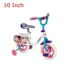 "10"" Bike with Training Wheels Only 5 In Stock Order Today! Product Description: Watch Him or Her Fly on the Huffy 10 in. Bike Learning to ride a bike is a lot more fun with your favorite character on"
