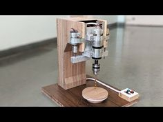 How to Make an Automatic Drill Press Machine at Home - New Concept - YouTube