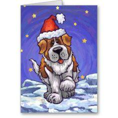 St. Bernard Christmas Cards #christmas #christmas gifts #dogs