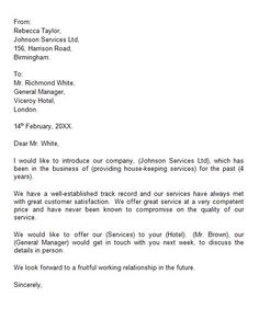 Business introduction letter to new client jobs pinterest letter of introduction template 05 altavistaventures Choice Image