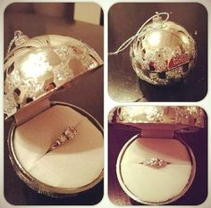 Cute proposal idea #christmas yes!! But have it hanging on a puppies collar:))