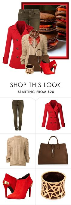 """""""Chocolate Strawberry"""" by fatima92 ❤ liked on Polyvore featuring Replay, Doublju, 3.1 Phillip Lim, Gucci, Love Moschino, Robert Lee Morris and Gottex"""