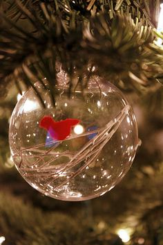 Filled ornament globes- working on this craft with Diego this Christmas