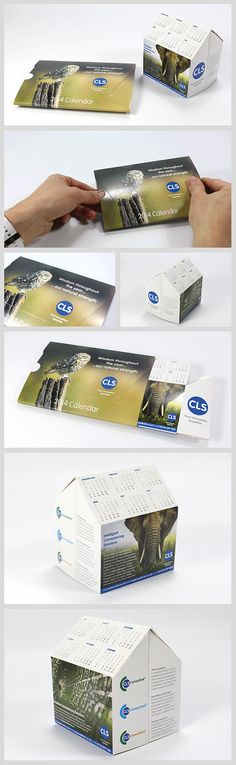 Direct Mail 'pop-up' House Calendar for CLS (Business Card Construction Creative)