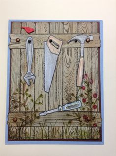 Stampin' Up Totally Tools, Hardwood and Flowering Fields stamps.
