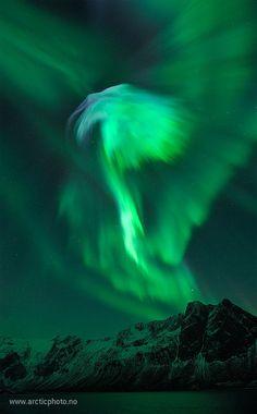 WOW!!! Aurora Borealis photo taken January 23, 2012 (my birthday! :)  Image credit: Bjørn Jørgensen