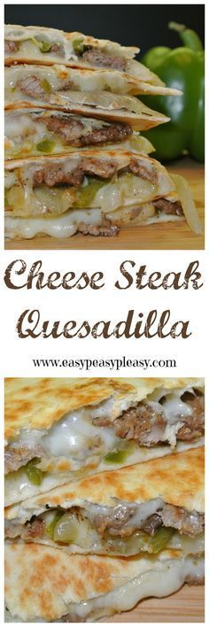 Steak Quesadillas Are A Crowd Pleaser Cheese Steak Quesadillas are the perfect twist on this Tex-Mex classic.Cheese Steak Quesadillas are the perfect twist on this Tex-Mex classic. Steak Quesadilla, Quesadilla Recipes, Steak Pizza, Chicken Quesadillas, Oven Steak, Steak Tacos, Cheese Enchiladas, Beef Recipes, Mexican Food Recipes